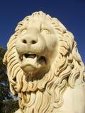 Sculptire av det Medici lejonet, sydlig fasad av Vorontsov slott, A arkivbild