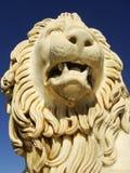 Sculptire av det Medici lejonet, sydlig fasad av Vorontsov slott, A arkivfoto