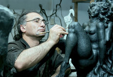 The sculptor Royalty Free Stock Photo