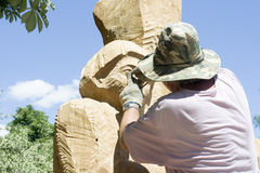 Sculptor stock image