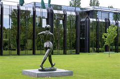 Sculptor art of athlete for Swiss headquarters IOC Stock Image
