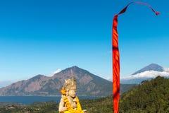 Sculptor bali. Volcano agung batur Stock Image