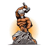 Sculptor Hammer Chisel Retro. Vector illustration Royalty Free Stock Photography