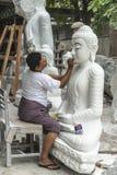 Sculptor in Myanmar Stock Image