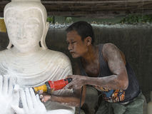 Sculptor in Myanmar Royalty Free Stock Image
