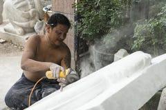 Sculptor in Myanmar Stock Photography