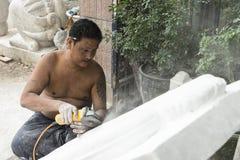 Sculptor in Myanmar Royalty Free Stock Photos