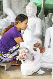 Sculptor in Myanmar Stock Photos