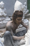 Sculptor in Myanmar Royalty Free Stock Photography