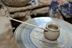 Sculptor and pottery. Stock Images