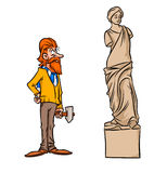 Sculptor statue Venus de Milo parody Royalty Free Stock Photo