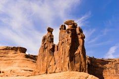Sculptore av naturen. Arche kanjon Moab arkivbild