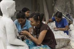 Sculptors in Myanmar Royalty Free Stock Image