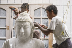 Sculptors in Myanmar Royalty Free Stock Images