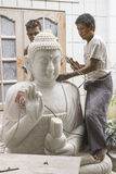 Sculptors in Myanmar Royalty Free Stock Images