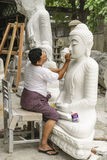 Sculptors in Myanmar Stock Image