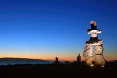 Sculptrue della roccia dalla baia inglese Fotografia Stock