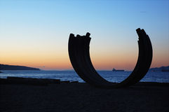 Sculptrue by english bay Royalty Free Stock Photography