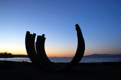 Sculptrue by english bay Royalty Free Stock Photos