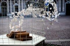 Sculptrue urbano en Turín imagen de archivo