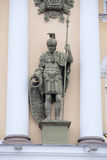 Sculptur on an arch at Palace Square in St. Petersburg, Russia. Royalty Free Stock Photos