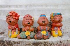 Sculptur do riso das crianças Fotografia de Stock