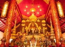 Sculptur dorato di Buddha Fotografie Stock Libere da Diritti