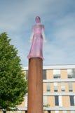 Sculptur of Heiligen Mechthild on Furstenwall Royalty Free Stock Photography
