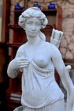 Sculptural Bust classic ancient Amazons women topless and a quiv Stock Photo
