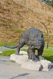 The sculptural composition Cave lion Stock Images