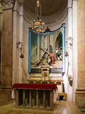Sculptural composition of. Execution Of Jesus in the palace of Pontius Pilate, jerusalem, israel Royalty Free Stock Photography