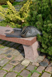Sculptural composition Kant's Bench in Kaliningrad Stock Image