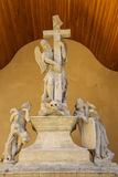 Sculptural composition of Latin Cathedral Royalty Free Stock Images