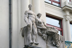Sculptural composition Stock Photos