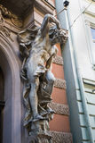 Sculptural decoration. House of Scientists in Lviv stock image