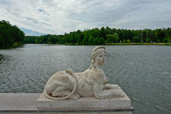 Sculptural decoration in the royal Tsaritsyno. Stock Photos
