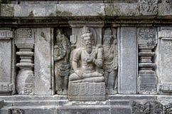 Sculptural decoration. Stone sculptural decoration. Prambanan. Indonesia royalty free stock photography