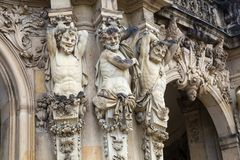 Sculptural decoration at Zwinger palace in Dresden. Germany stock photo