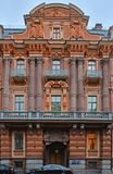 Sculptural design of house of the merchant Utin in Saint Petersburg, Russia Royalty Free Stock Photos