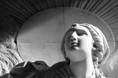 Sculptural details. Christian religious sculptural details in virgin pillar zaragoza Stock Photo