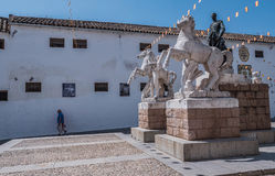 Sculptural ensemble dedicated to the bullfighter Manolete, called `Manuel Rodriguez`, Cordoba, Spain Royalty Free Stock Photos