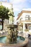 Sculptural fountain in Estepona Stock Image
