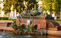 The sculptural fragment of fountain Royalty Free Stock Image