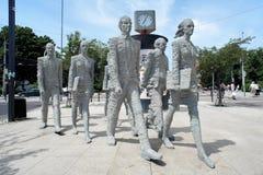 Sculptural group in Ceske-Budejovice Stock Photo