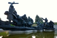 Sculptural group Crossing of the Dnieper, Kiev Royalty Free Stock Photography