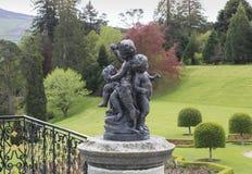 Sculptural group. Decorative element of the park. Powerscourt Estate. Ireland stock photos