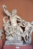 Sculptural group of Laocoön and His Sons. Sculptural group of Laocoön and His Sons in the Vatican Museum Pio-Clementine, depicting a death struggle of Royalty Free Stock Photo