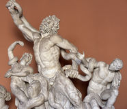 Sculptural group of Laocoön and His Sons. Sculptural group of Laocoön and His Sons in the Vatican Museum Pio-Clementine, depicting a death struggle of Royalty Free Stock Images