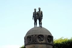 Sculptural group man and woman Royalty Free Stock Images