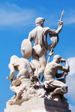 Sculptural group near to Monument of Victor Emmanuel II, in Roma Royalty Free Stock Photography